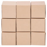 Cardboard boxes. Pyramid from boxes Stock Photos