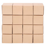 Cardboard boxes. Pyramid from boxes Royalty Free Stock Photos