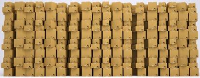 Cardboard boxes set Royalty Free Stock Photos