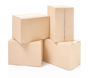 Cardboard boxes stack Royalty Free Stock Images