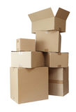 Cardboard boxes stack package Stock Image