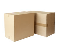 Cardboard boxes stack package Royalty Free Stock Photo