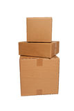 Cardboard boxes stacked Stock Photography