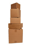 Cardboard boxes stacked Royalty Free Stock Photography