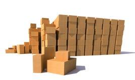Cardboard boxes warehouse Stock Image