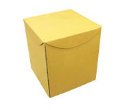 Cardboard boxes on white background Royalty Free Stock Photography