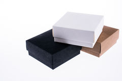 Cardboard Boxes. On a white background Stock Photos