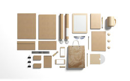 Cardboard branding elements to replace your design Stock Image