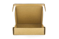 Cardboard brown box isolate Royalty Free Stock Image