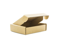 Cardboard brown box isolate Stock Photography