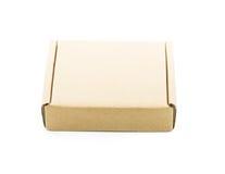 Cardboard brown box isolate Stock Photos
