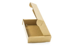 Cardboard brown box isolate Royalty Free Stock Photography