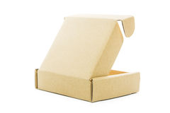 Cardboard brown box isolate Stock Images