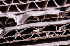 Cardboard brown paper old cut close up texture structure Stock Photos