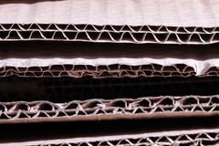 Cardboard brown paper old cut close up texture structure Stock Image