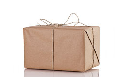 Cardboard Brown Parcel Royalty Free Stock Photos