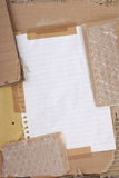 Cardboard and Bubble Wrap Stock Images