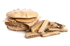 Cardboard burger and fries Stock Photos