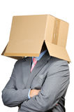 Cardboard businessman Stock Photos