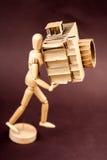 Cardboard Camera. A cardboard camera and an artist's manikin Royalty Free Stock Photography