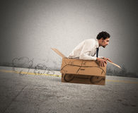 Cardboard car Royalty Free Stock Images