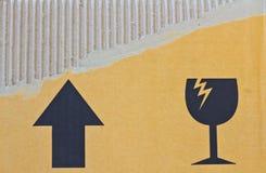 Cardboard carton Royalty Free Stock Images