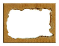 Cardboard carton frame Stock Photography
