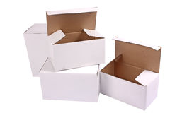 Cardboard cartons Stock Images