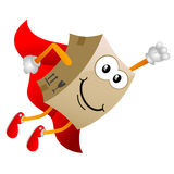 Cardboard cartoon character 4 Stock Images