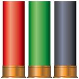 Cardboard cartridges for shotgun Stock Photography