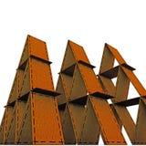 Cardboard castles Stock Images