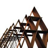 Cardboard castles Stock Image