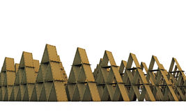 Cardboard castles Royalty Free Stock Photography