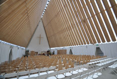 Cardboard Cathedral Stock Photo