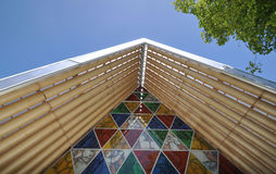 Cardboard Cathedral Stock Image