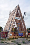 Cardboard Cathedral Takes Shape In Christchurch, New Zealand royalty free stock images