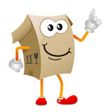 Cardboard character vector 1 Royalty Free Stock Image
