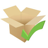 Cardboard with check Royalty Free Stock Photography
