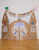 Cardboard Children's Palace Royalty Free Stock Images