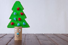 Cardboard Christmas tree Royalty Free Stock Photography