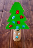 Cardboard Christmas tree Royalty Free Stock Photos