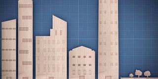 Cardboard city landscape Stock Photography