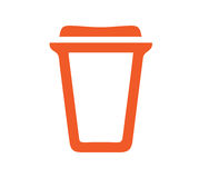 Cardboard Coffe Cup Icon Royalty Free Stock Image