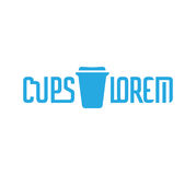 Cardboard Coffe Cup Logo Royalty Free Stock Image