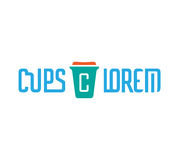 Cardboard Coffe Cup Logo Stock Photo