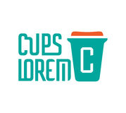 Cardboard Coffe Cup Logo Royalty Free Stock Images