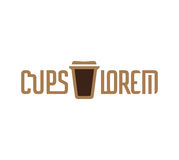 Cardboard Coffee Cup Logo Stock Photography