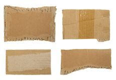 Cardboard Collection. Ready for your message Stock Photography
