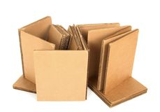 Cardboard with copy space Royalty Free Stock Photos