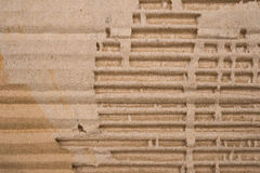 Cardboard corrugated pattern horizontal Stock Images